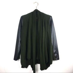 Zara Knit Cardigan Olive Black Sz S